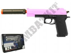 M24 BB Gun Colt Double Eagle Replica Airsoft Spring Pistol 2 Tone Pink Black